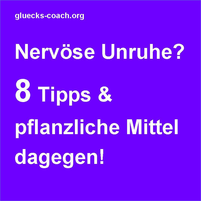Nervöse Unruhe 8 Tipps dagegen