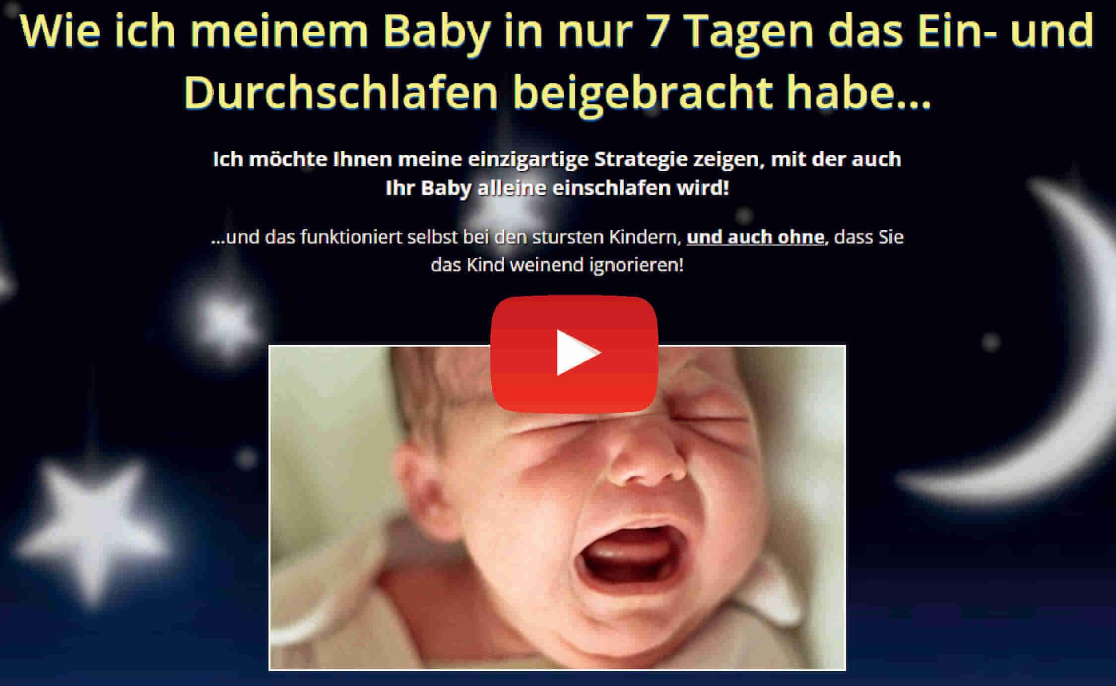In 7 Tagen lernt das Baby eunzuschlafen und durchzuschlafen